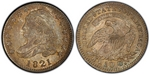 U.S. 10-cent Dime 1821 Coin