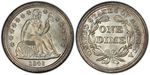 U.S. 10-cent Dime 1842 Coin