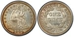 U.S. 10-cent Dime 1844 Coin