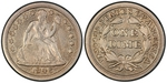 U.S. 10-cent Dime 1846 Coin