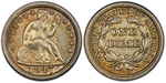 U.S. 10-cent Dime 1847 Coin