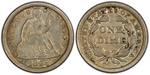 U.S. 10-cent Dime 1848 Coin