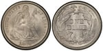 U.S. 10-cent Dime 1875 Coin