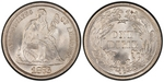 U.S. 10-cent Dime 1876 Coin