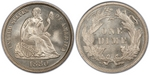U.S. 10-cent Dime 1880 Coin