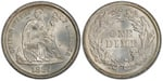 U.S. 10-cent Dime 1884 Coin