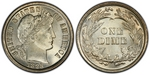 U.S. 10-cent Dime 1893 Coin