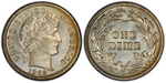 U.S. 10-cent Dime 1902 Coin