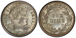 U.S. 10-cent Dime 1907 Coin