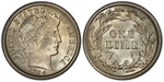 U.S. 10-cent Dime 1914 Coin