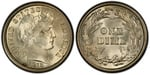 U.S. 10-cent Dime 1915 Coin