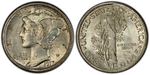 U.S. 10-cent Dime 1917 Coin