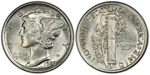 U.S. 10-cent Dime 1920 Coin