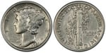 U.S. 10-cent Dime 1921 Coin