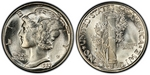 U.S. 10-cent Dime 1927 Coin