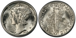 U.S. 10-cent Dime 1936 Coin