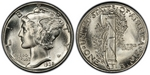U.S. 10-cent Dime 1938 Coin