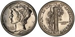 U.S. 10-cent Dime 1941 Coin