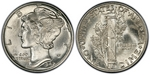 U.S. 10-cent Dime 1942 Coin