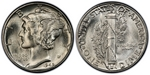 U.S. 10-cent Dime 1945 Coin