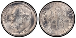 U.S. 10-cent Dime 1946 Coin