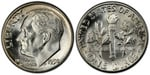 U.S. 10-cent Dime 1950 Coin