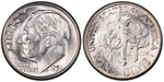 U.S. 10-cent Dime 1951 Coin