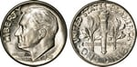 U.S. 10-cent Dime 1952 Coin