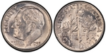 U.S. 10-cent Dime 1953 Coin