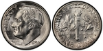 U.S. 10-cent Dime 1954 Coin
