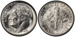 U.S. 10-cent Dime 1961 Coin