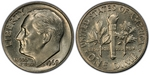 U.S. 10-cent Dime 1969 Coin