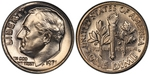 U.S. 10-cent Dime 1971 Coin