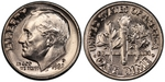 U.S. 10-cent Dime 1982 Coin