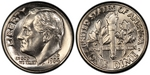 U.S. 10-cent Dime 1984 Coin