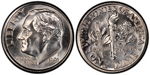 U.S. 10-cent Dime 1991 Coin