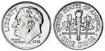 U.S. 10-cent Dime 2012 Coin