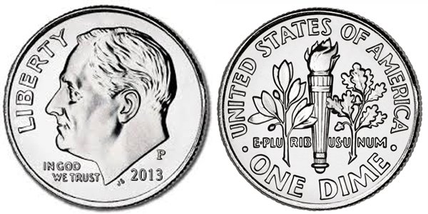US Dime with Franklin Delano Roosevelt