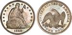 U.S. Dollar Coin 1848