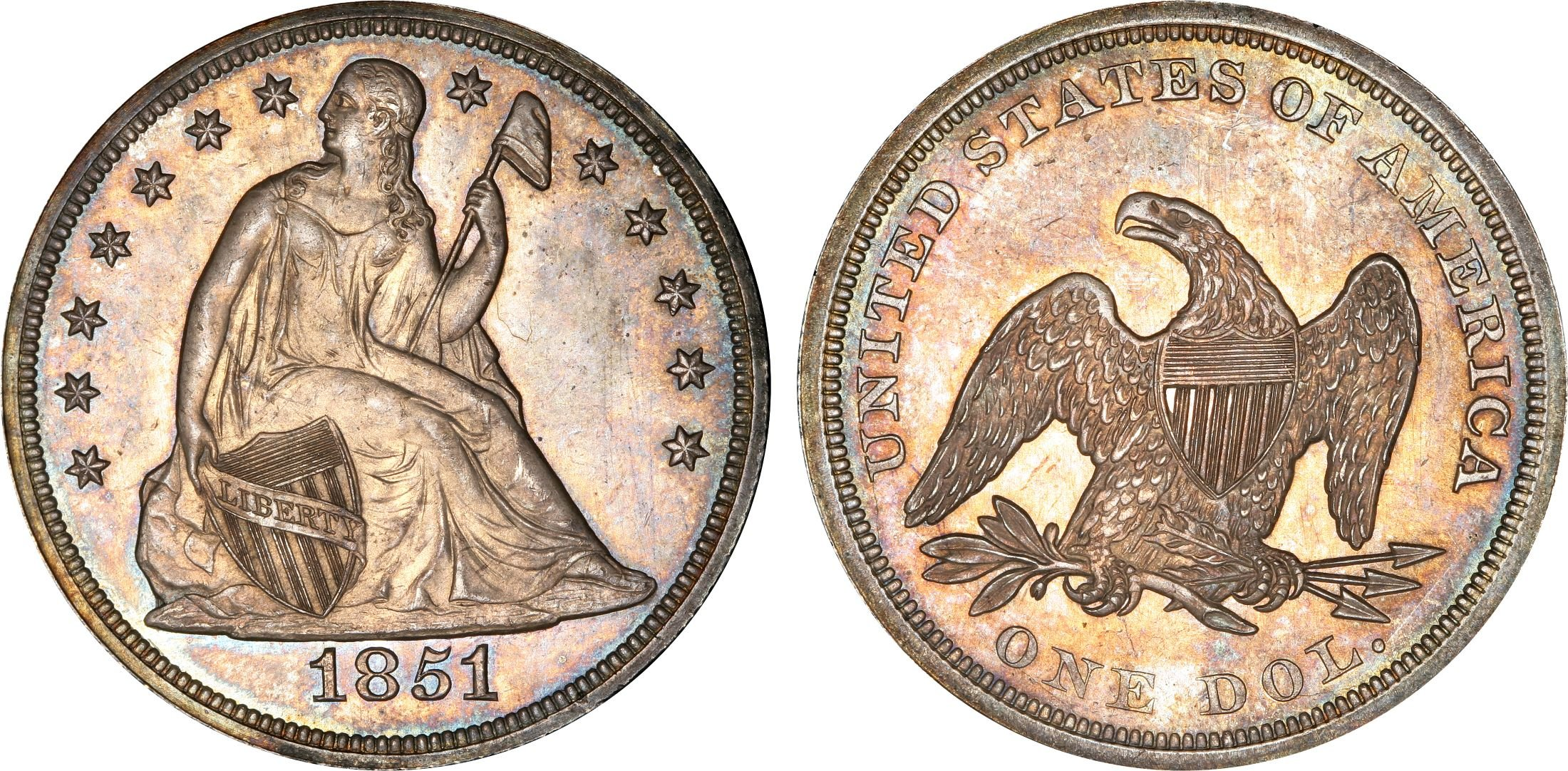 Us Dollar Or One Dollar Coin From 1851 Usa One Dollar