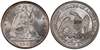 U.S. 50-cent Half Dollar 1856 Coin