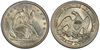 U.S. 50-cent Half Dollar 1858 Coin