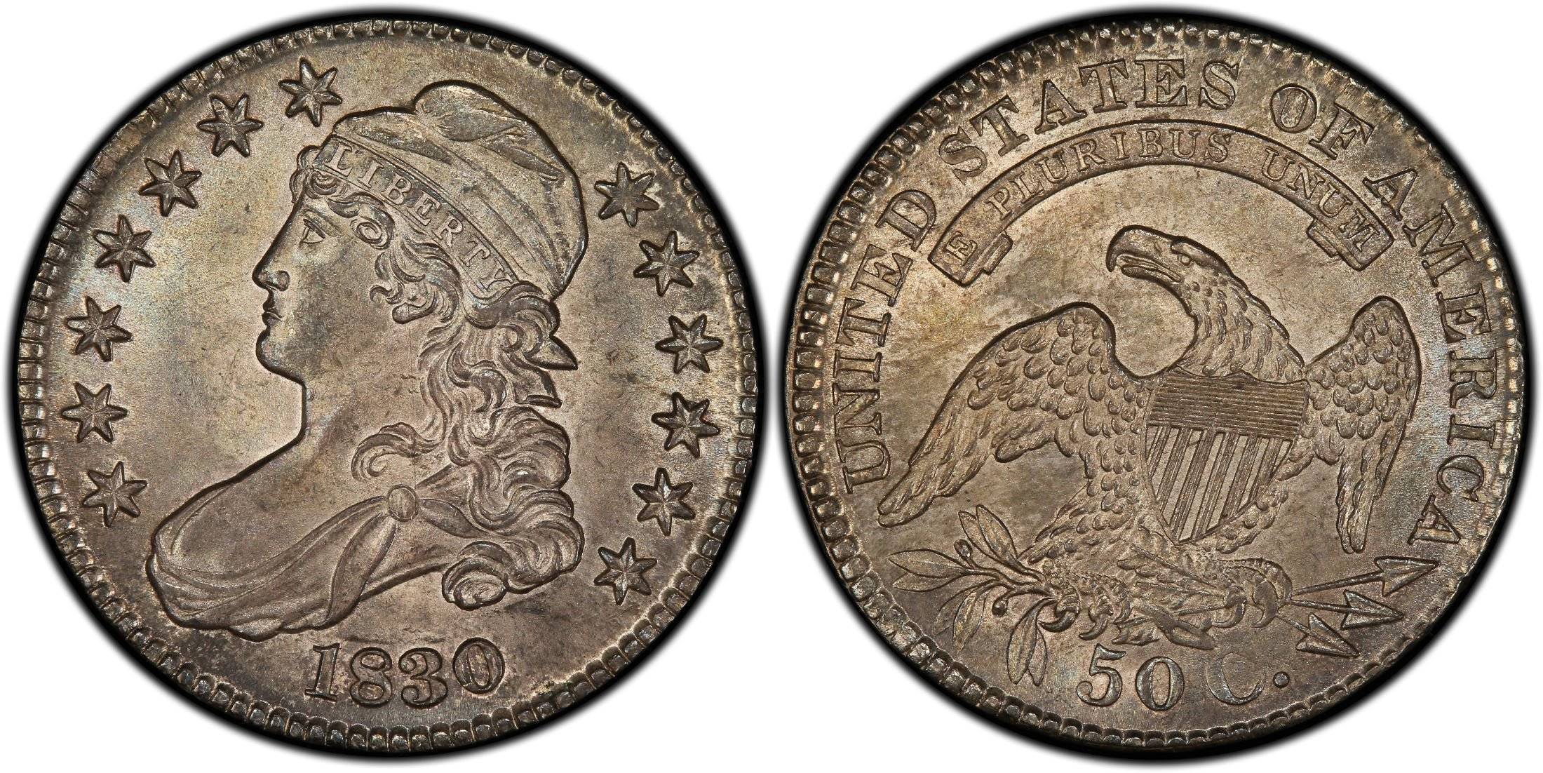 Us Half Dollar Or Fifty Cent Coin From 1830 Usa Fifty