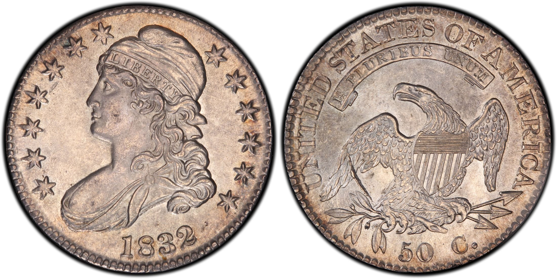 Us Half Dollar Or Fifty Cent Coin From 1832 Usa Fifty