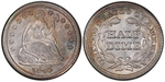 U.S. Nickel 1845 Cent Coin