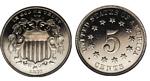 U.S. Nickel 1877 Cent Coin