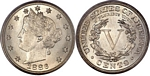 U.S. Nickel 1886 Cent Coin