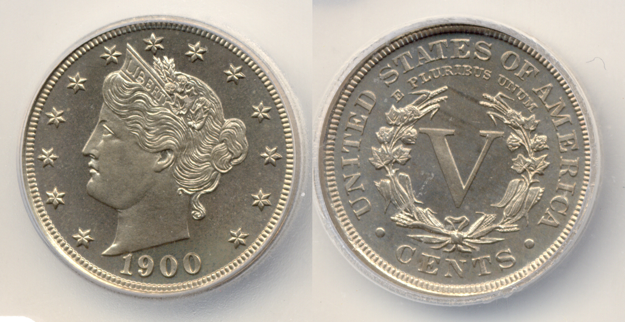 Us Nickel Or Half Dime Coin From 1900 Usa Five Cent Piece