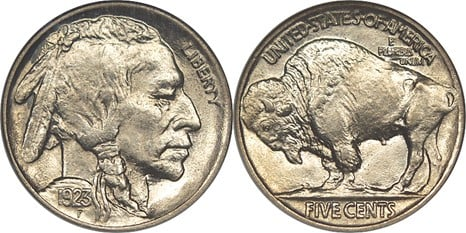 Us Nickel Or Half Dime Coin From 1923 Usa Five Cent Piece