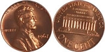 U.S. Penny 1967 Cent